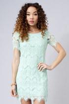 mint lace dress dress