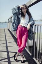 Fairground cardigan - vintage pants - Keilana Skye wedges
