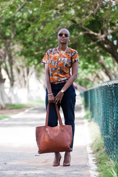 vintage blouse - DAKS bag - thrifted vintage sunglasses - Zara heels
