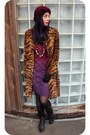 Black-leather-vintage-boots-magenta-dyed-lace-revamped-dress