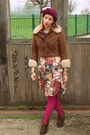 Brown-vintage-50s-boots-vintage-60s-dress