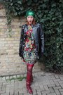 Italian-leather-vintage-70s-boots-vintage-60s-dress-hat