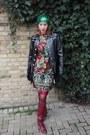 Italian-leather-vintage-70s-boots-vintage-60s-dress-hat