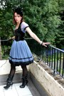 Black-new-rock-boots-blue-lace-anime-thrifted-dress-black-sheer-fishnet-mar