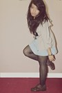 Floral-mks-boots-tan-forever-21-coat-black-shorts