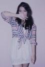 White-floral-lace-h-m-dress-light-pink-chiffon-seximo-cardigan