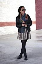 Glamplaza scarf - black UrbanOG boots - black Forever 21 jacket