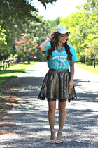 turquoise blue graphic tee Gravel Road Tees shirt