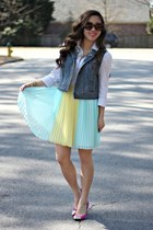 light blue pleated skirt francescas skirt - black Calico sunglasses