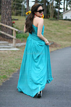 turquoise blue Msdressy dress - black Shopcalico sunglasses