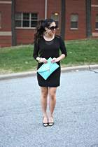 black LoomNation dress - light blue clutch Benevolent Jewels purse