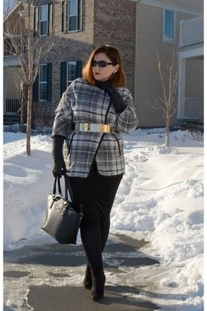H&M coat - david jones bag - H&M skirt
