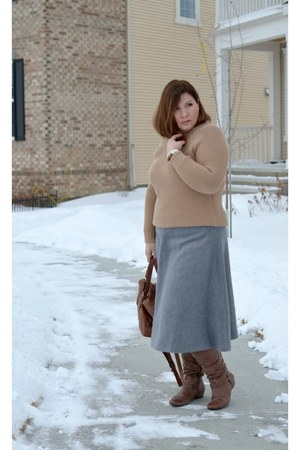 Zara sweater - asos skirt