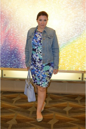 Peter Pilotto For Target dress - Gap jacket - coach bag