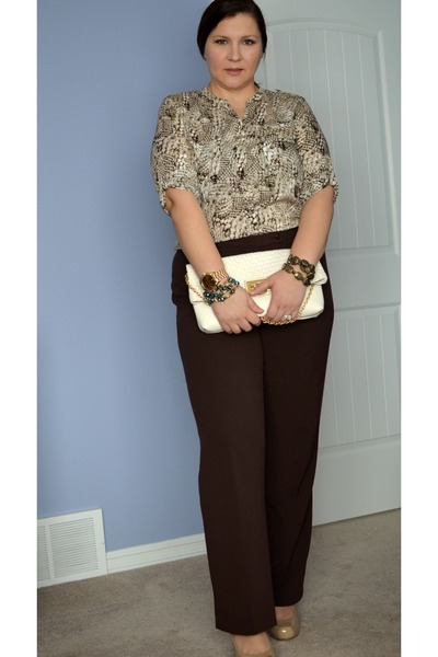 calvin klein blouse - banana republic bag