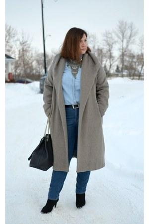 Zara coat - Tommy Hilfiger jeans - Gap shirt