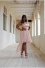 Nude-sheer-sequin-dress-nude-suede-atmosphere-heels