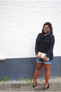 Black-knitted-h-m-divided-dress-eggshell-faux-leather-supertrash-bag
