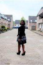 black h&m divided sweater - black clockhouse bag