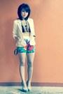 Studded-bag-cropped-top-flowers-fashlab-pants-ysl-heels
