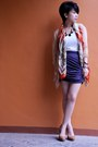 Brown-freddies-shoes-vintage-scarf-white-top-grey-draped-skirt