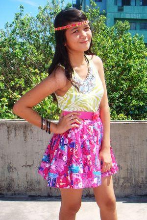accessories - top - belt - skirt - shoes
