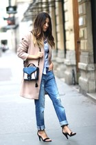 Amenapih coat - Ikks shoes - Mavi jeans - Ikks shirt - Opening Ceremony bag