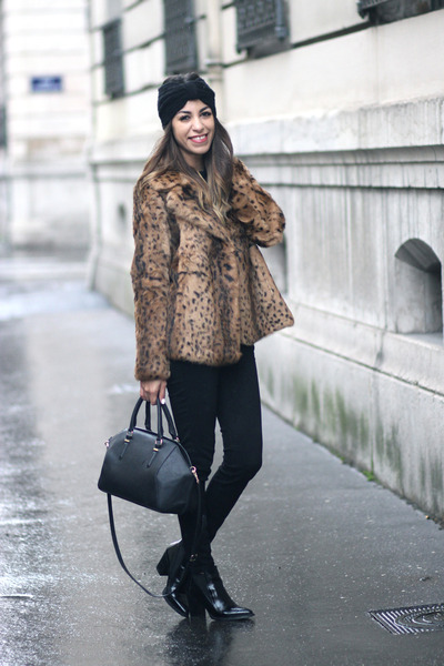 Maje jacket - Office boots - J Brand jeans - Zara bag - asos hair accessory