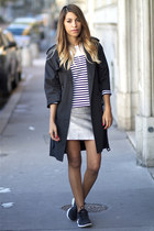 Gérard darel coat - Gat Rimon shirt - Claudie Pierlot top - nike sneakers