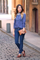 maison scotch shirt - Jonak shoes - Levis jeans - clutch Gérard darel bag