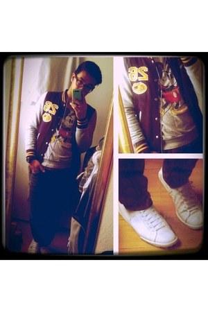 Primark jacket - Topman jeans - Primark sweater - Converse sneakers