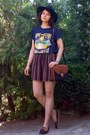 Black-h-m-hat-navy-the-simpsons-thrifted-shirt-burnt-orange-thrifted-purse