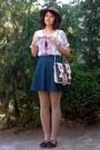 Cream-fringe-ethnic-purse-light-brown-thrifted-hat-beige-tights