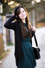 Forest-green-asos-dress-black-h-m-hat-black-new-yorker-bag