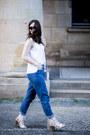 Blue-jeans-ivory-asos-bag-ivory-sol-sana-heels-white-zara-top