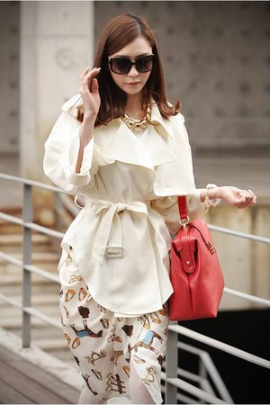 white trench RibbonO jacket