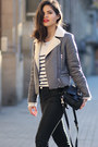 Zara-boots-stradivarius-jeans-glamorous-jacket-choies-sweater