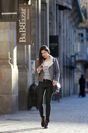 Zara boots - Stradivarius jeans - Glamorous jacket - Choies sweater