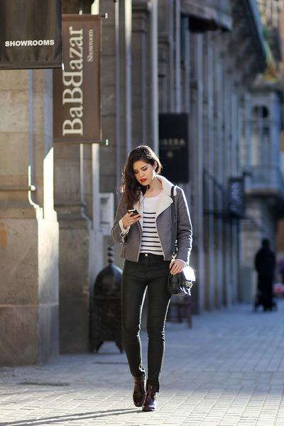 Zara boots - Stradivarius jeans - Glamorous jacket - Choies sweater