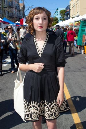 black embroidered Ark & Co dress