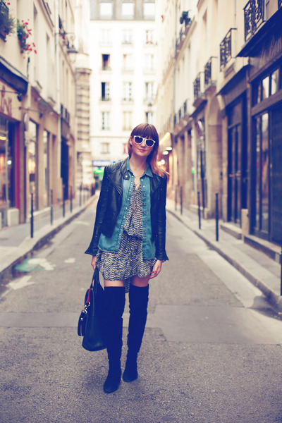 H&M boots - Isabel Marant x H&M dress - Zara jacket