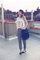 Zara pants - H&M bag - Zara top