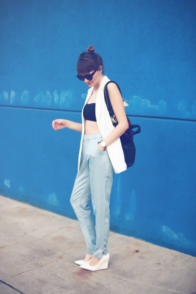 Mango vest - Givenchy bag - Joes Jeans pants