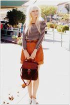 orange vintage shorts