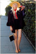vintage bag - vintage blouse