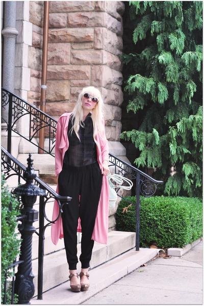Black Swan pants - Dahlia coat - Black Swan blouse