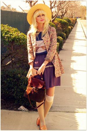 Urban 1972 coat - Darling dress - romwe sweater