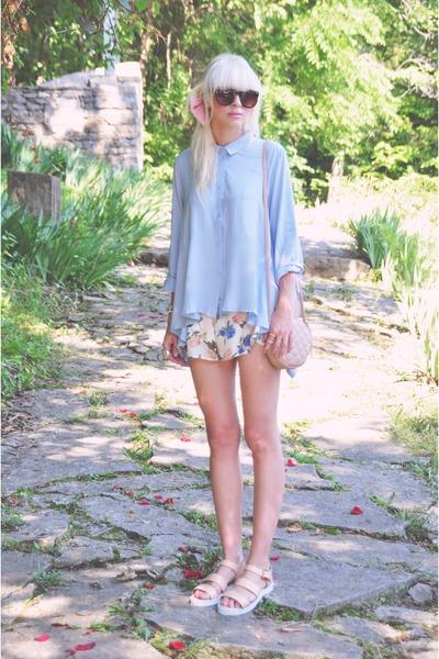 Chicwish shirt - Chicwish shorts - asos sandals