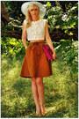 Vintage-hat-vintage-blouse-vintage-skirt