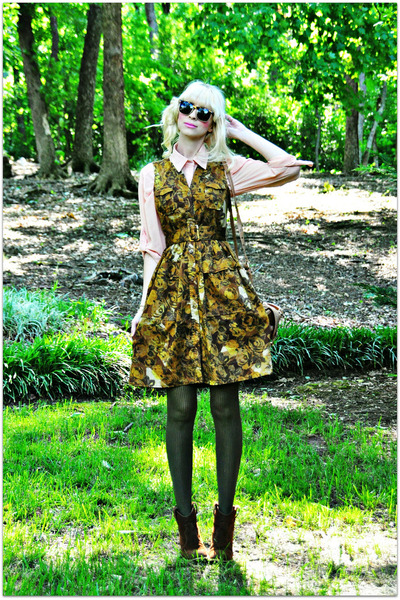 Anthro dress - Urban 1972 blouse